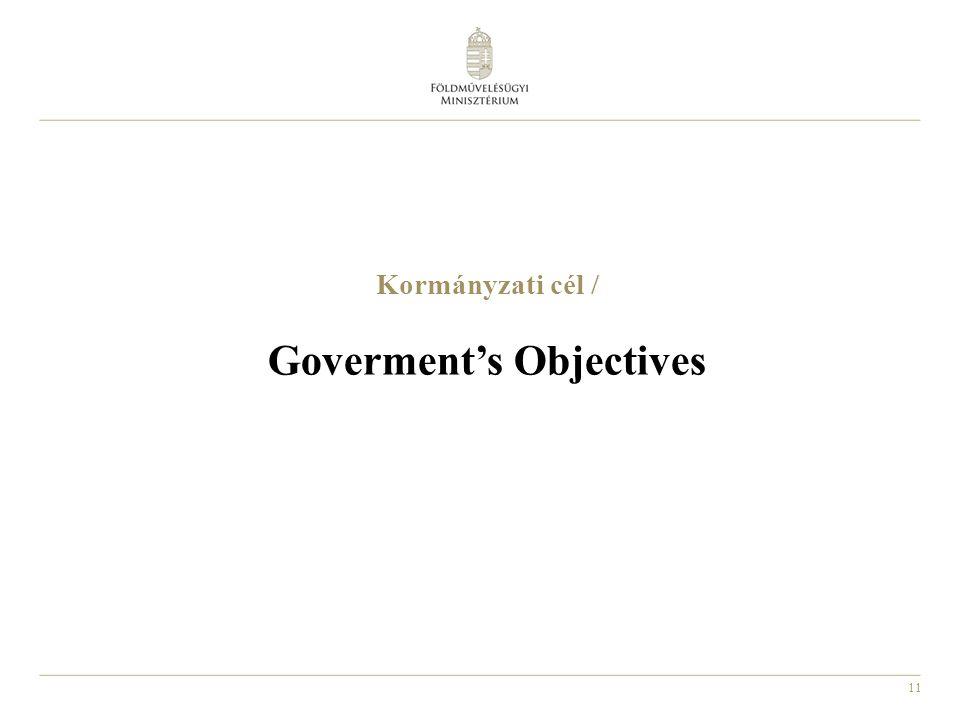 11 Kormányzati cél / Goverment's Objectives