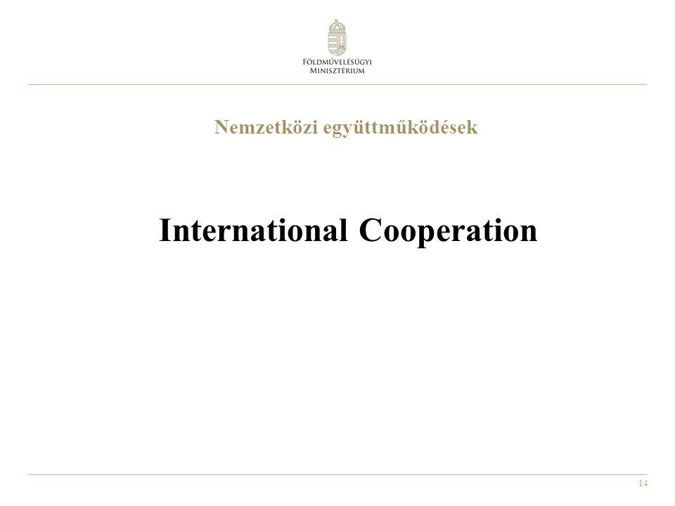 14 Nemzetközi együttműködések International Cooperation