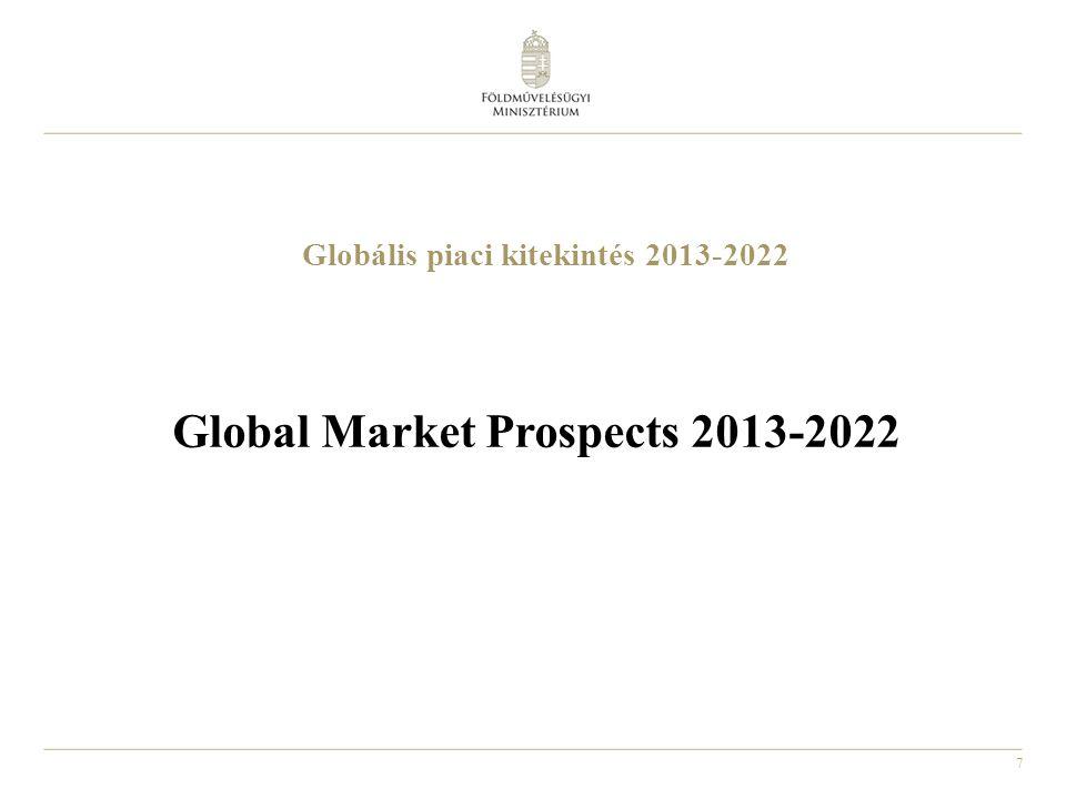 7 Globális piaci kitekintés 2013-2022 Global Market Prospects 2013-2022
