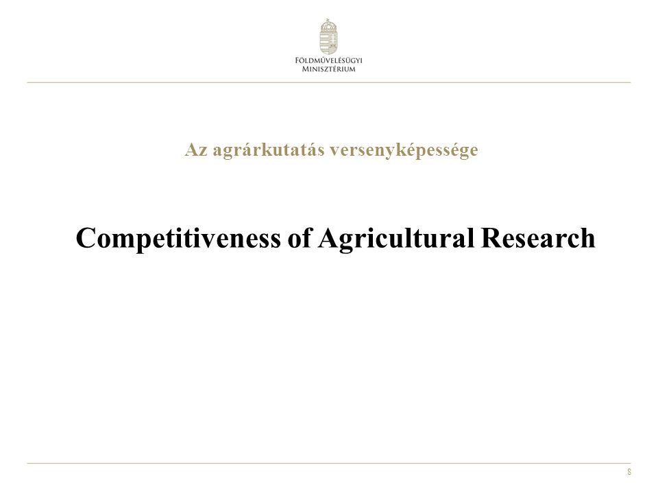 8 Az agrárkutatás versenyképessége Competitiveness of Agricultural Research