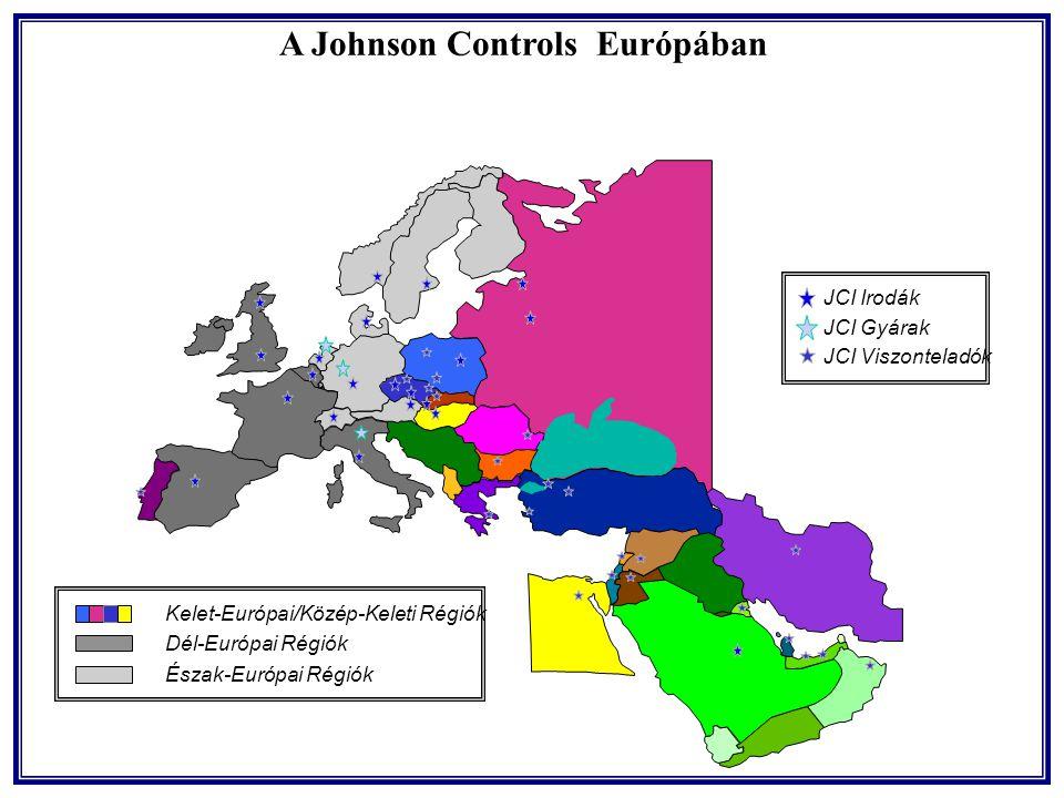 JCI Irodák JCI Gyárak JCI Viszonteladók A Johnson Controls Európában Kelet-Európai/Közép-Keleti Régiók Dél-Európai Régiók Észak-Európai Régiók