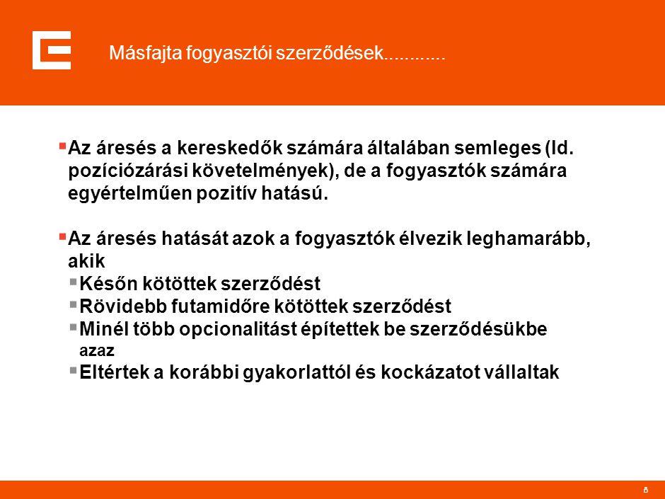 9...............és másfajta fogyasztók is  Várható, hogy egyre több olyan magyar nagyfogyasztó lesz, aki kereskedőként fog gondolkodni és hajlandó/képes lesz kockázatot vállalni.