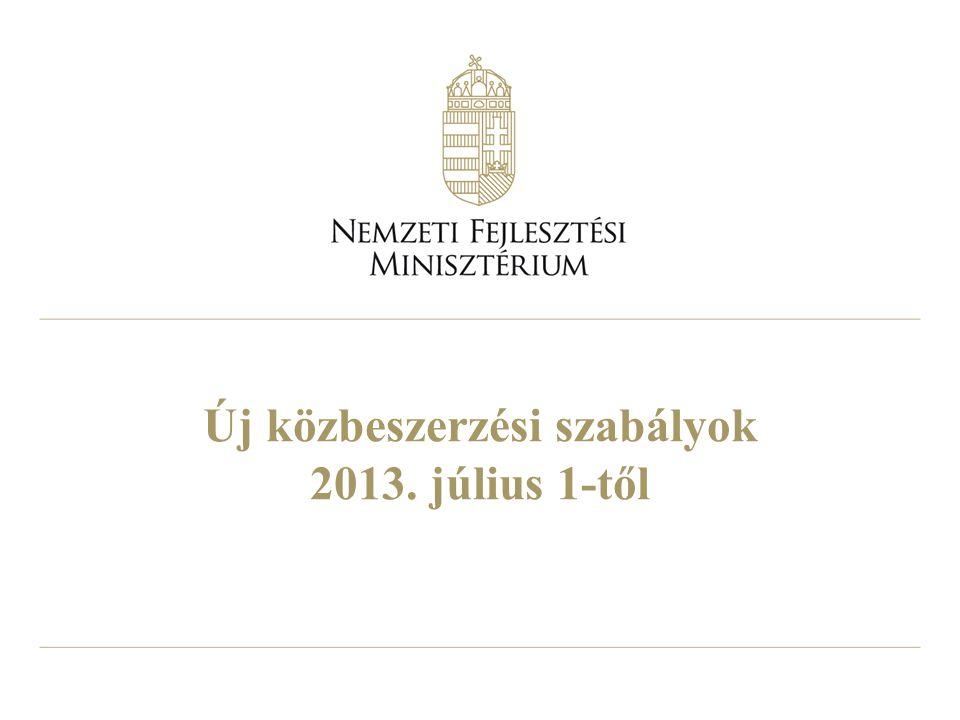 Új közbeszerzési szabályok 2013. július 1-től