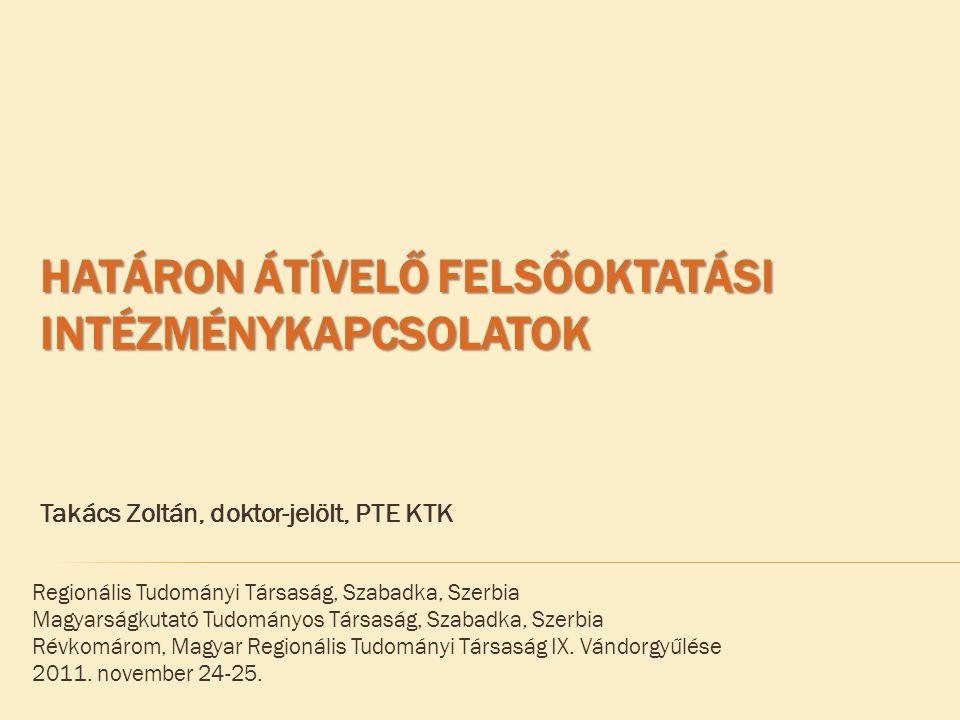 Regionális Tudományi Társaság, Szabadka, Szerbia Magyarságkutató Tudományos Társaság, Szabadka, Szerbia Révkomárom, Magyar Regionális Tudományi Társaság IX.