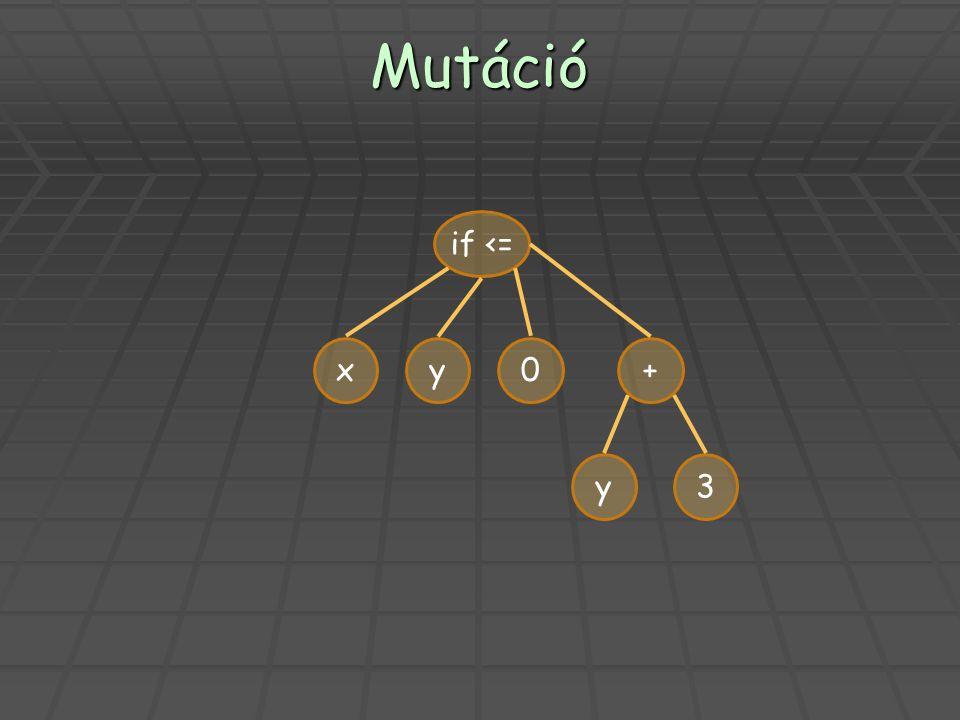 Mutáció xy0+ y3