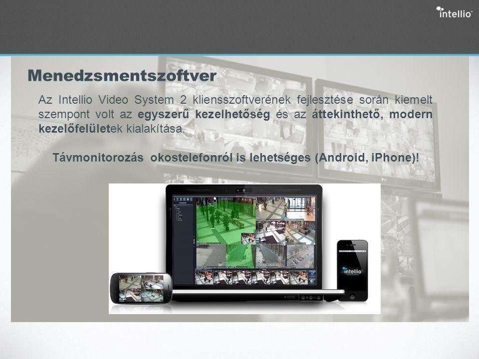 Menedzsmentszoftver Az Intellio Video System 2 kliensszoftverének fejlesztése során kiemelt szempont volt az egyszerű kezelhetőség és az áttekinthető,