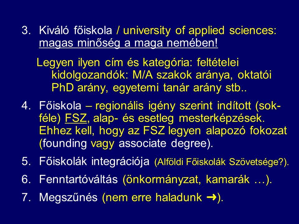 3.Kiváló főiskola / university of applied sciences: magas minőség a maga nemében.
