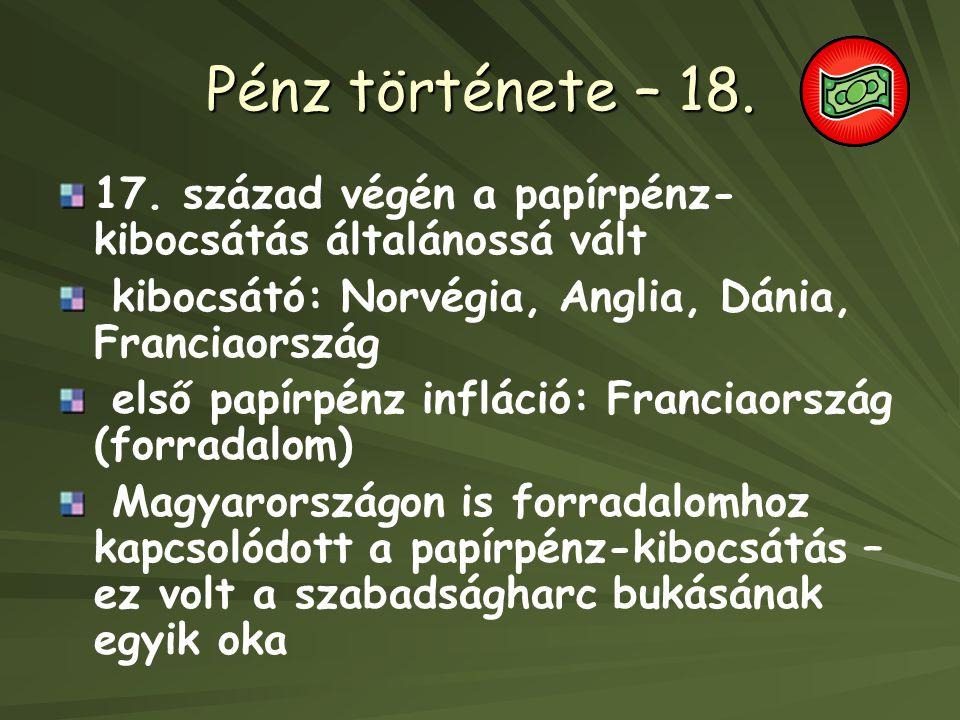 Pénz története – 18.17.