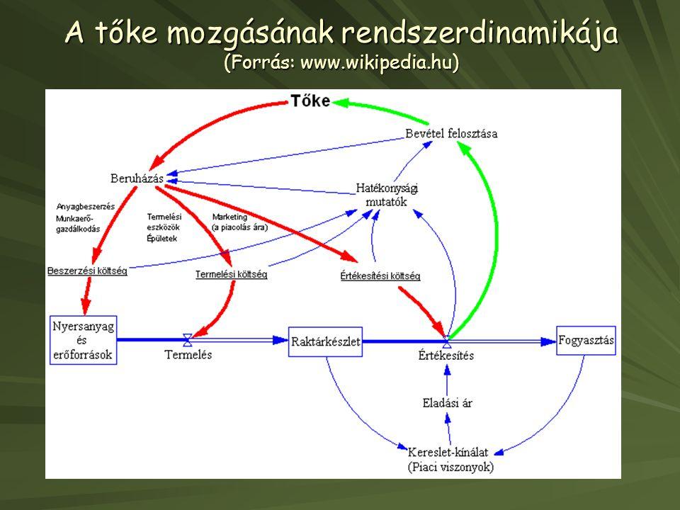 A tőke mozgásának rendszerdinamikája (Forrás: www.wikipedia.hu)