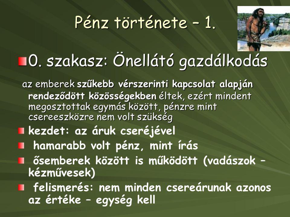 Pénz története – 1.0.