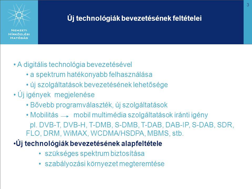 4 Frekvenciasávok és pályázó technológiák
