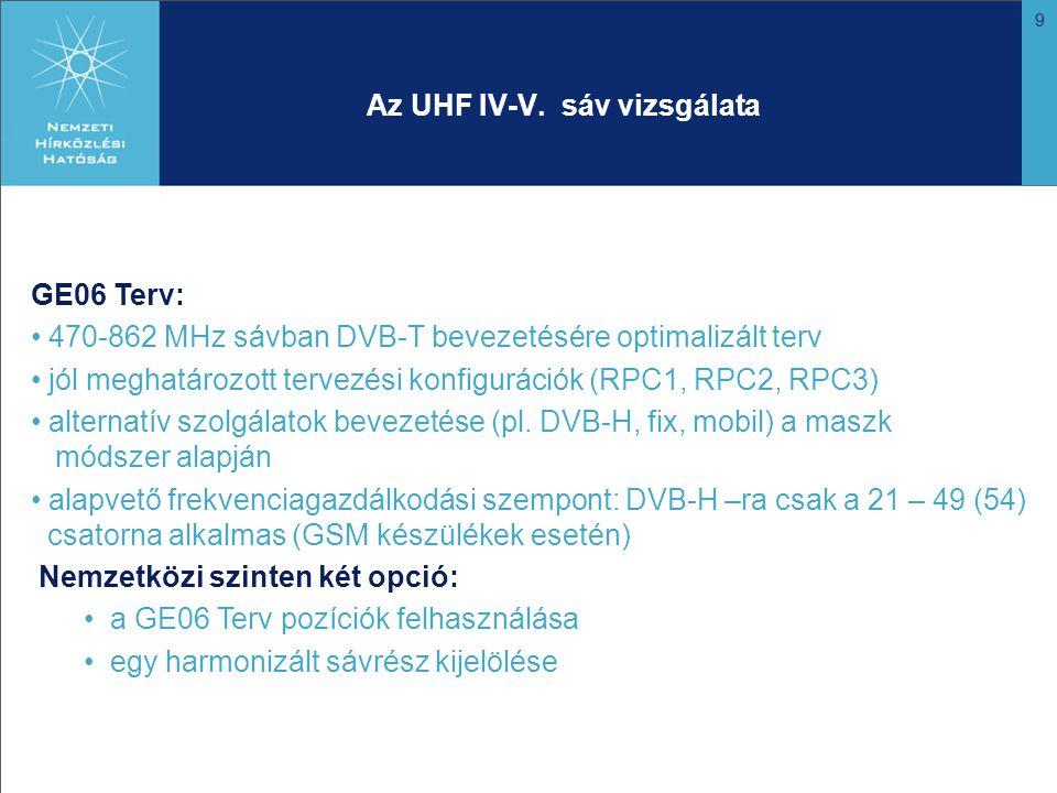9 Az UHF IV-V.