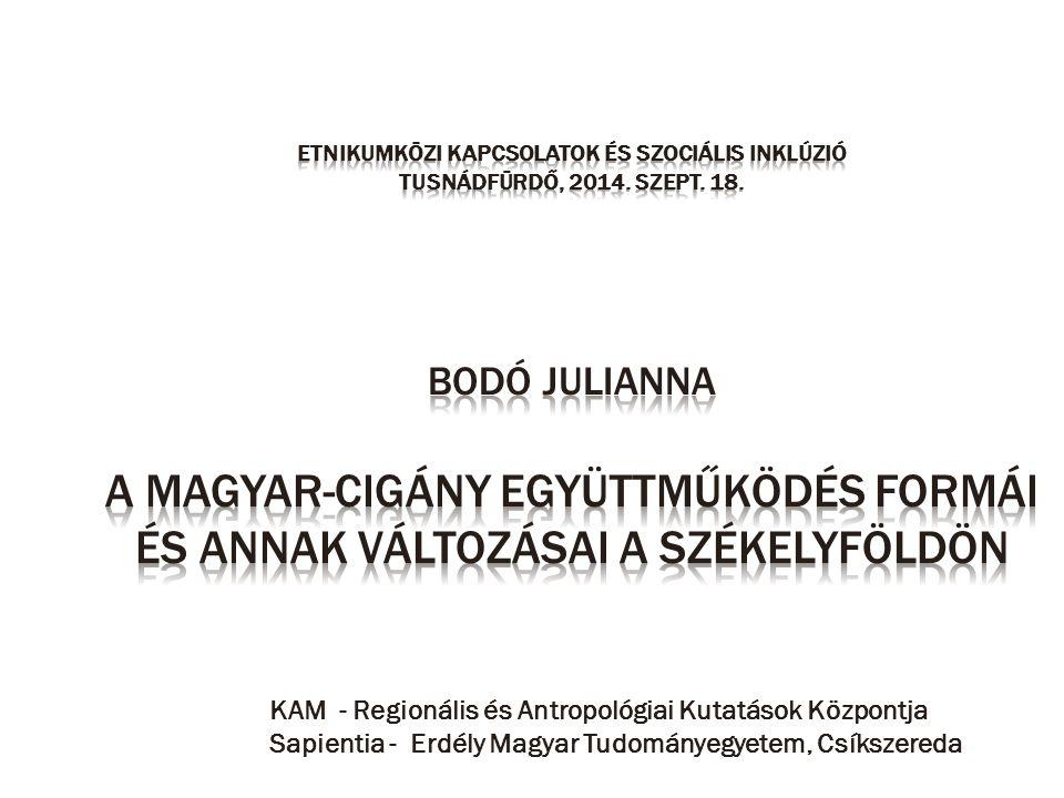 KAM - Regionális és Antropológiai Kutatások Központja Sapientia - Erdély Magyar Tudományegyetem, Csíkszereda