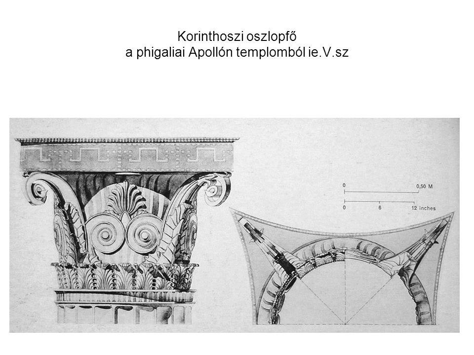 Korinthoszi oszlopfő a phigaliai Apollón templomból ie.V.sz
