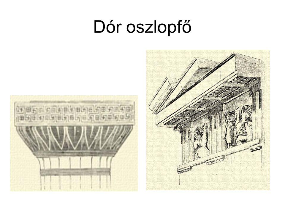 38.Epidaurosz színház ie.360, 14ezer néző, mai is működik 10m átmérőjű orkhesztra, 53 sor Két oldali kapuzat ion oszlopú nézőtér támfala és scene szárnyfalai között