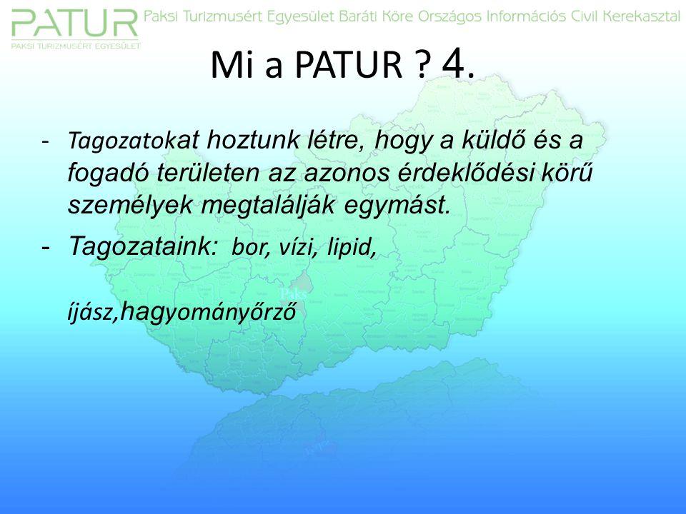 Mi a PATUR . 4.
