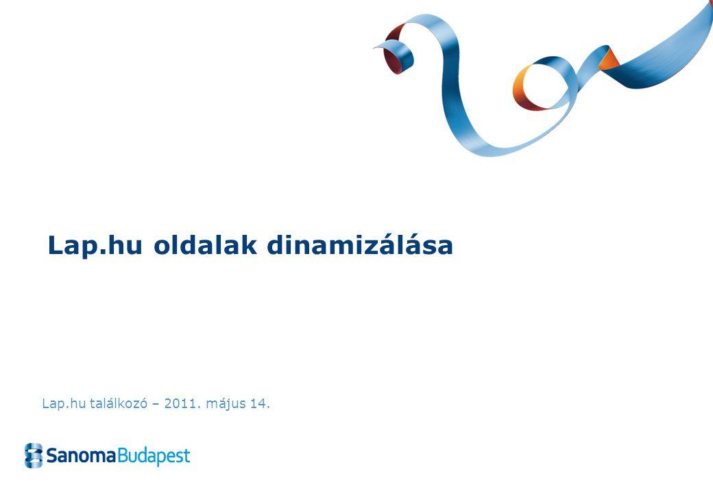 Lap.hu oldalak dinamizálása Lap.hu találkozó – 2011. május 14.