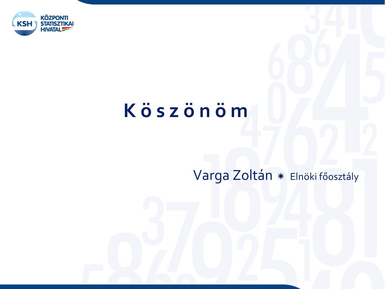 K ö s z ö n ö m Varga Zoltán  Elnöki főosztály