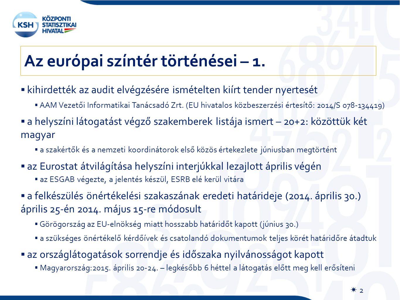  2  kihirdették az audit elvégzésére ismételten kiírt tender nyertesét  AAM Vezetői Informatikai Tanácsadó Zrt. (EU hivatalos közbeszerzési értesít