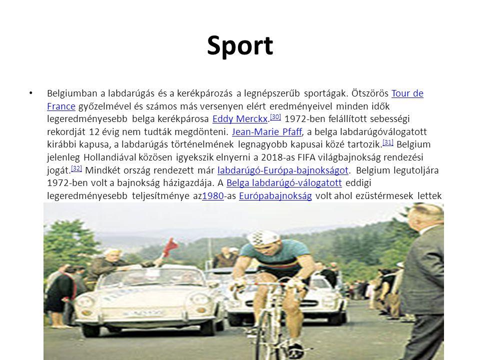 Sport Belgiumban a labdarúgás és a kerékpározás a legnépszerűb sportágak. Ötszörös Tour de France győzelmével és számos más versenyen elért eredményei