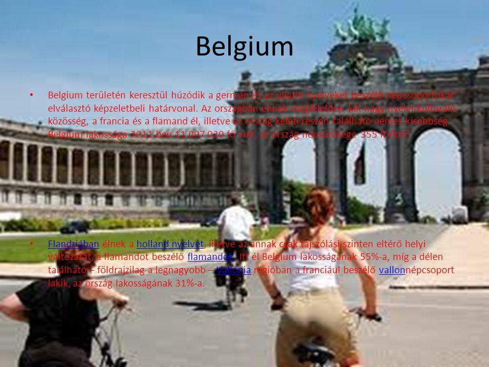 Belgium Belgium területén keresztül húzódik a germán és az újlatin nyelveket beszélő népcsoportokat elválasztó képzeletbeli határvonal. Az országban e