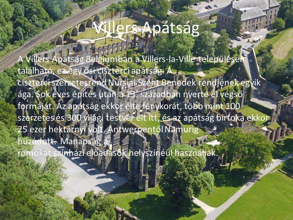 Villers Apátság A Villers Apátság Belgiumban a Villers-la-Ville településen található, ez egy ősi ciszterci apátság. A ciszterci szerzetesrend Nursiai
