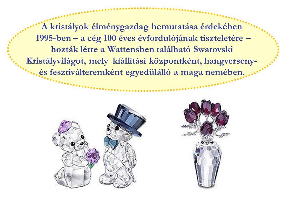 A kristályok élménygazdag bemutatása érdekében 1995-ben – a cég 100 éves évfordulójának tiszteletére – hozták létre a Wattensben található Swarovski Kristályvilágot, mely kiállítási központként, hangverseny- és fesztiválteremként egyedülálló a maga nemében.