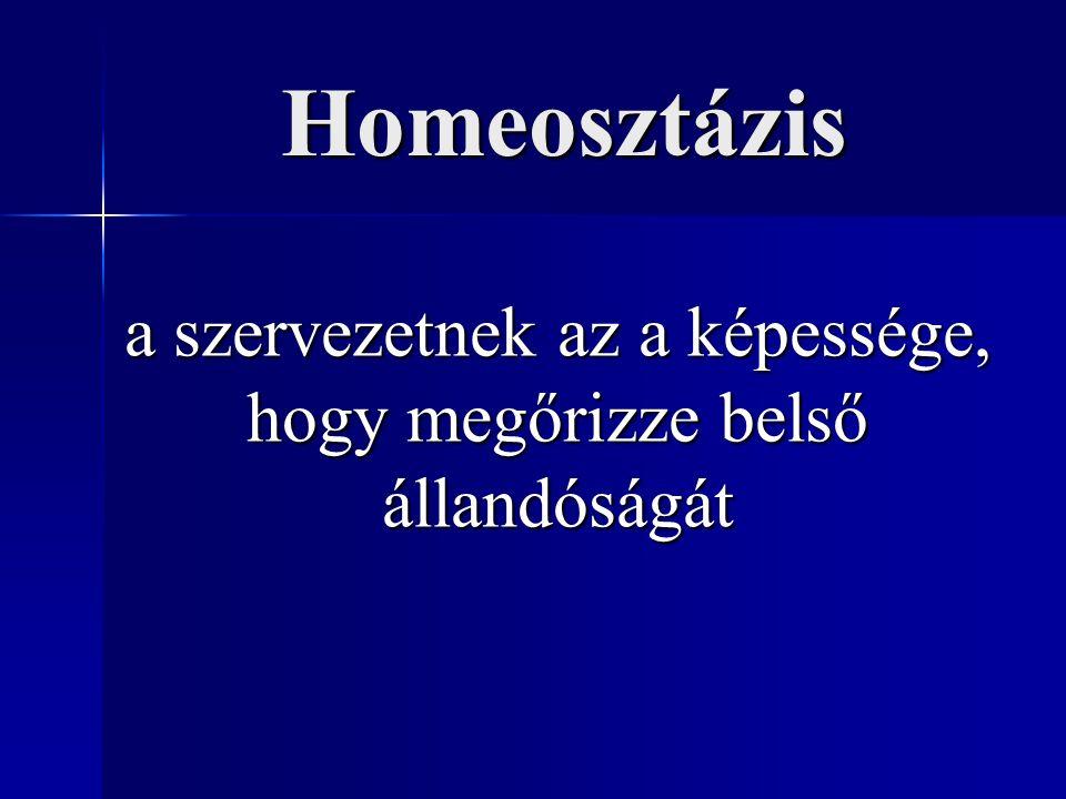 Homeosztázis a szervezetnek az a képessége, hogy megőrizze belső állandóságát