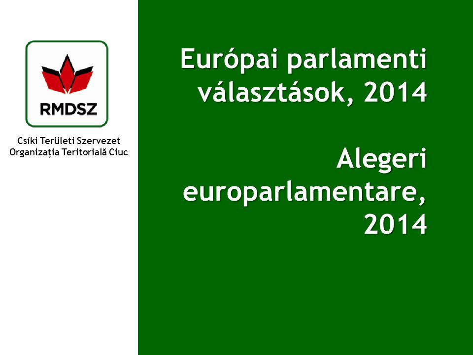 Csíki Területi Szervezet Organizaţia Teritorială Ciuc Európai parlamenti választások, 2014 Alegeri europarlamentare, 2014