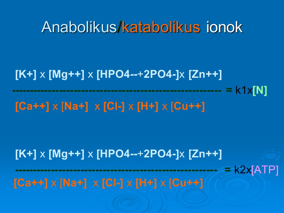 ATP és a sejtintegritás  Az anorganikus foszfát koncentráció intracelluláris csökkenése az ATP koncentráció arányos mértékű csökkenését eredményezi.
