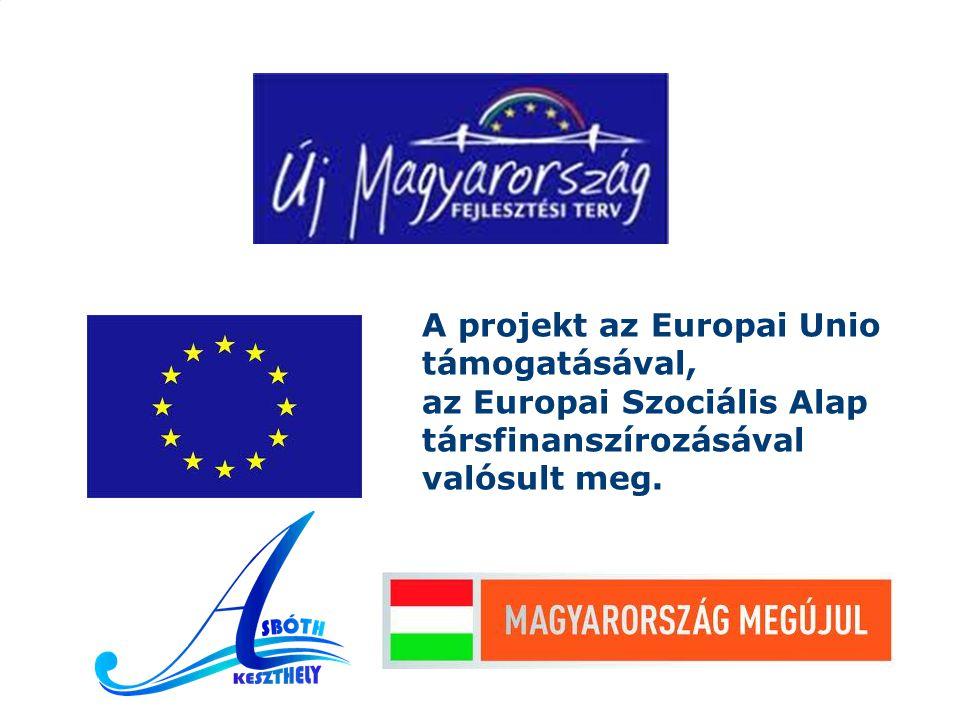 A projekt az Europai Unio támogatásával, az Europai Szociális Alap társfinanszírozásával valósult meg.