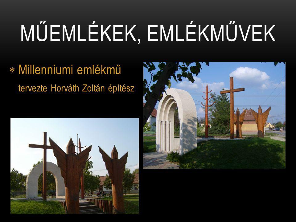  Millenniumi emlékmű tervezte Horváth Zoltán építész MŰEMLÉKEK, EMLÉKMŰVEK