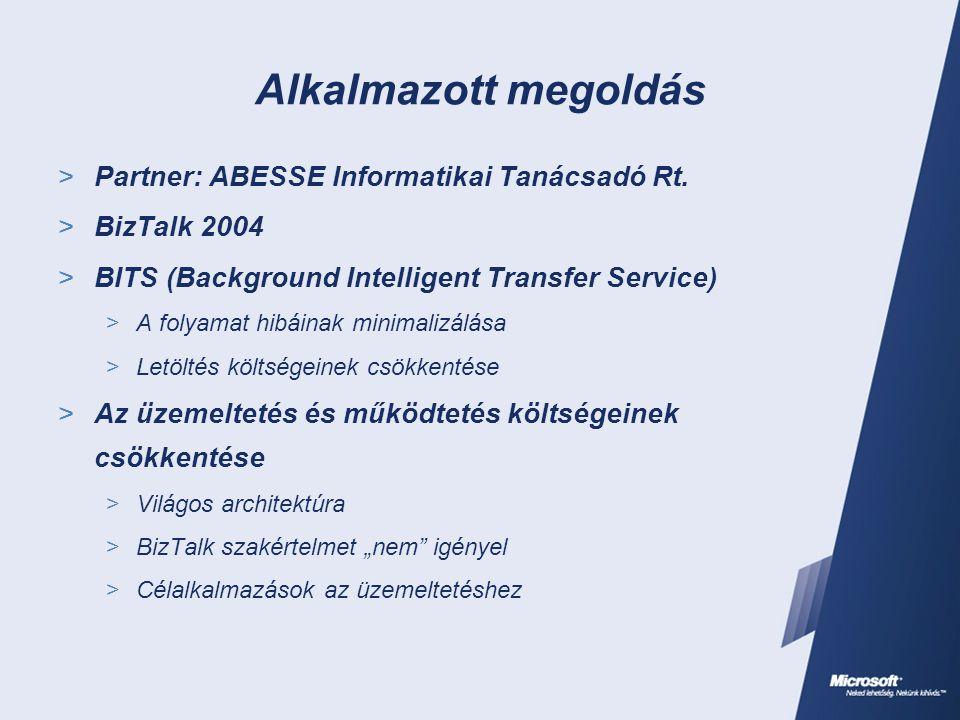 Alkalmazott megoldás  Partner: ABESSE Informatikai Tanácsadó Rt.