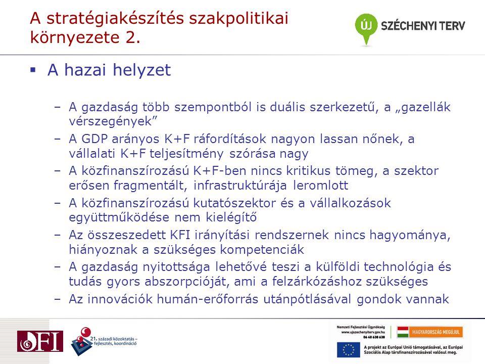 A stratégiakészítés szakpolitikai környezete 2.
