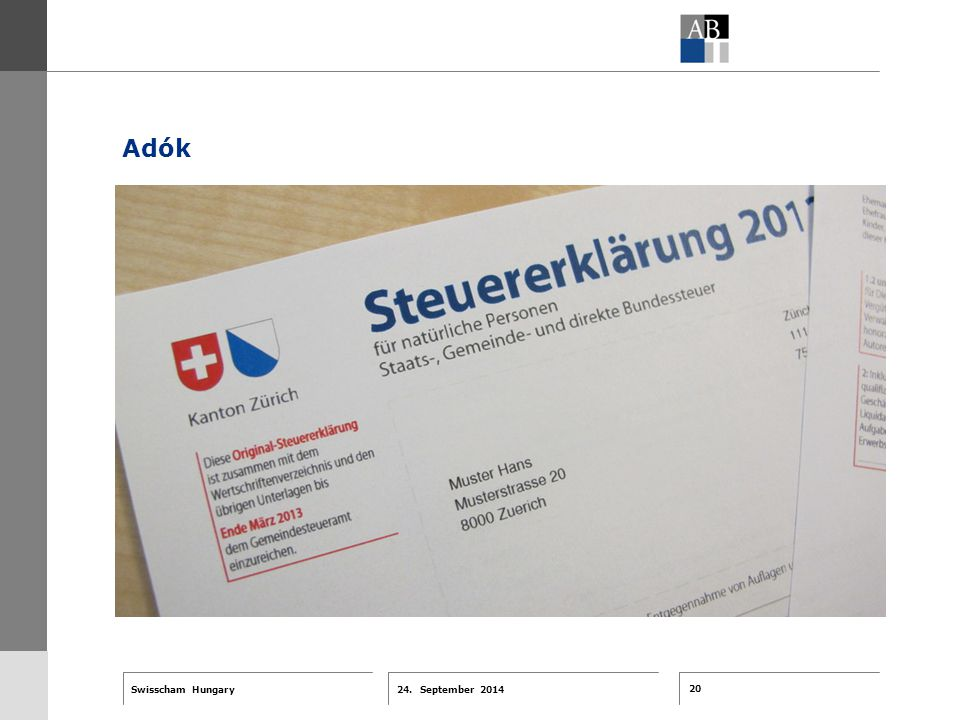 20 24. September 2014 Swisscham Hungary T 1 … R 2 … F 3 … Tell 4 ABT-Farben G 1 G 2 G 3 G 4 G 5 G 6 Zusatzfarben 7.25 5.70 0.00 7.25 8.750.0 5.00 10.0