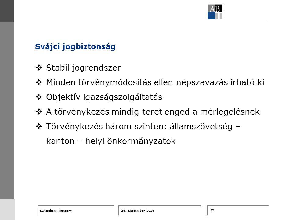 23 24. September 2014 Swisscham Hungary T 1 … R 2 … F 3 … Tell 4 ABT-Farben G 1 G 2 G 3 G 4 G 5 G 6 Zusatzfarben 7.25 5.70 0.00 7.25 8.750.0 5.00 10.0