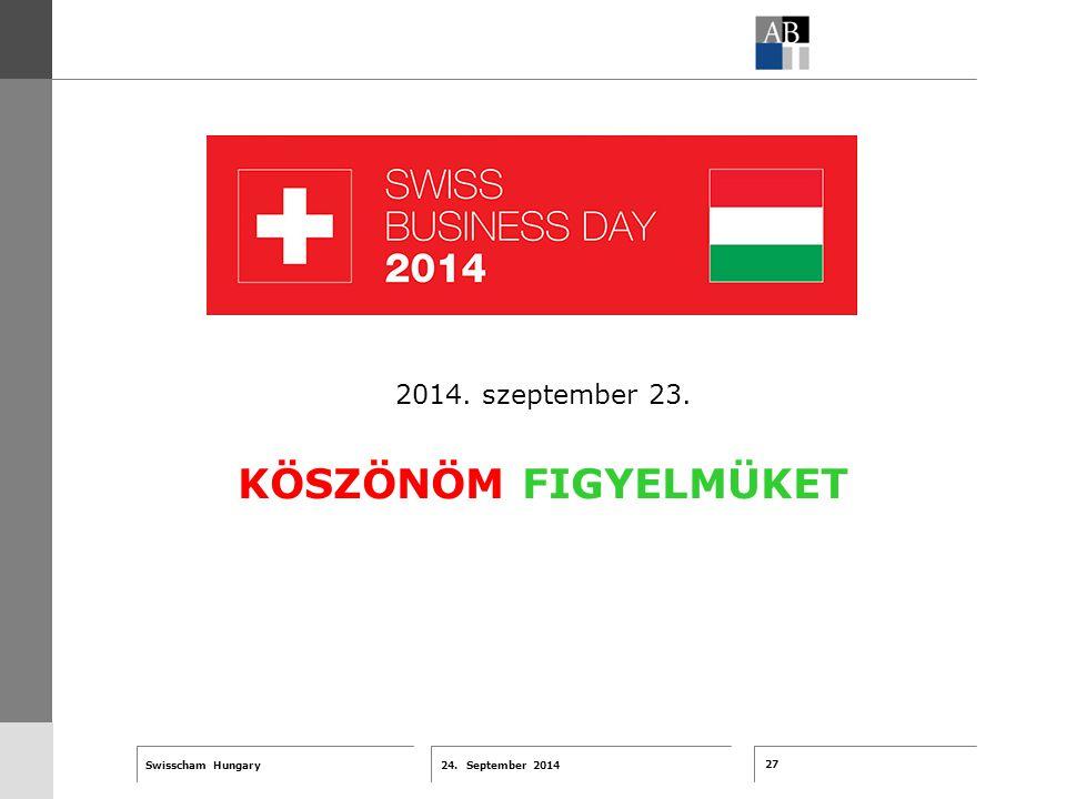 27 24. September 2014 Swisscham Hungary T 1 … R 2 … F 3 … Tell 4 ABT-Farben G 1 G 2 G 3 G 4 G 5 G 6 Zusatzfarben 7.25 5.70 0.00 7.25 8.750.0 5.00 10.0