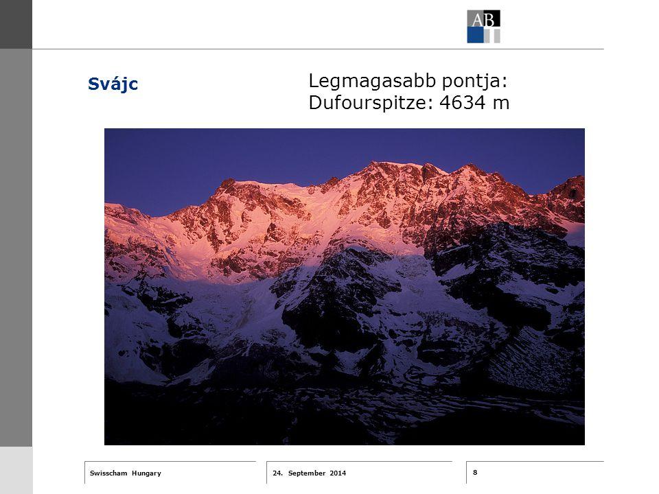 8 24. September 2014 Swisscham Hungary T 1 … R 2 … F 3 … Tell 4 ABT-Farben G 1 G 2 G 3 G 4 G 5 G 6 Zusatzfarben 7.25 5.70 0.00 7.25 8.750.0 5.00 10.00