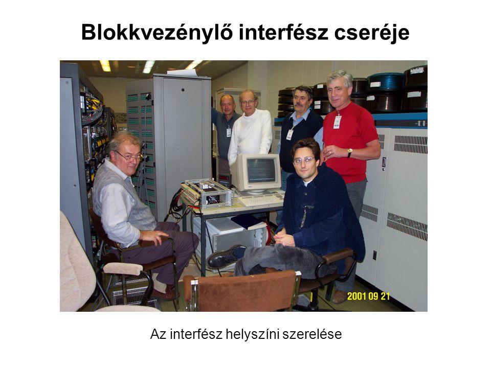 Blokkvezénylő interfész cseréje Az interfész helyszíni szerelése