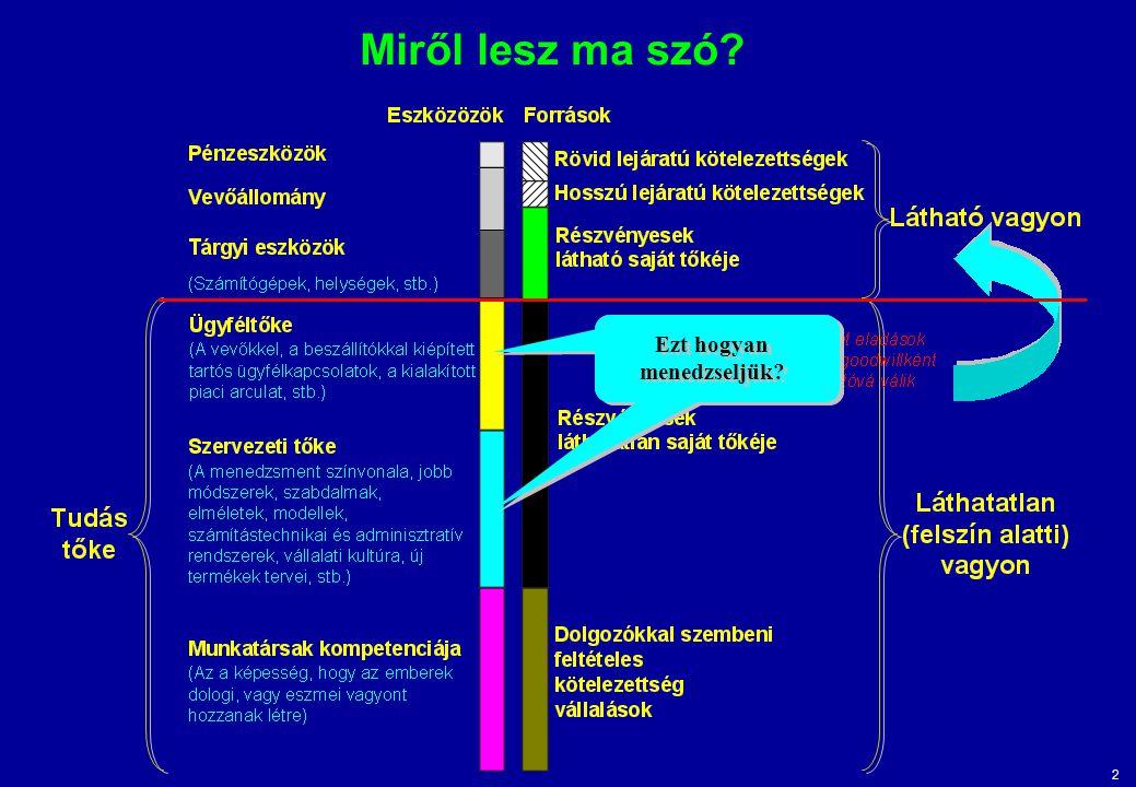 3 A belső szerkezet: a tudásátvitel elősegítése, a teljesítmény és a hatékonyság növelése