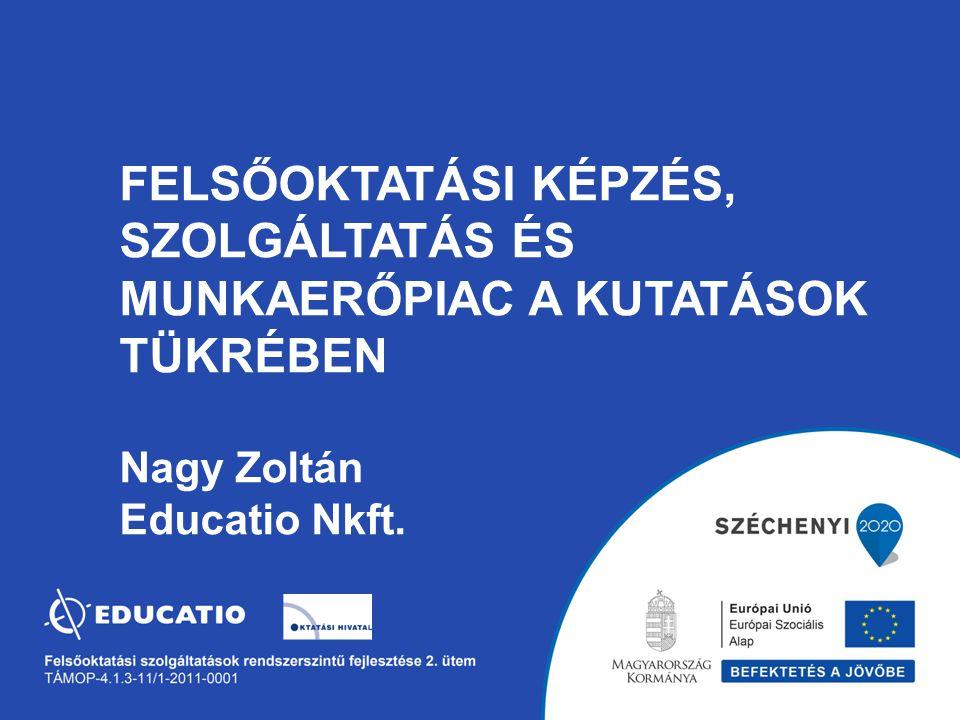 FELSŐOKTATÁSI KÉPZÉS, SZOLGÁLTATÁS ÉS MUNKAERŐPIAC A KUTATÁSOK TÜKRÉBEN Nagy Zoltán Educatio Nkft.