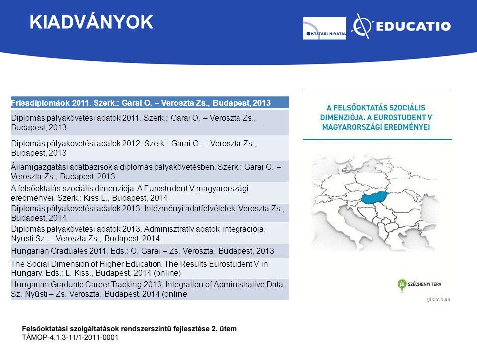 KIADVÁNYOK Frissdiplomáok 2011.Szerk.: Garai O.