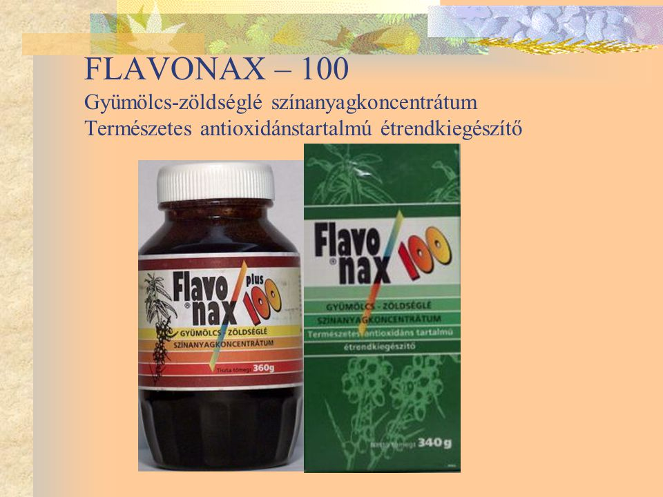 FLAVONAX – 100 Gyümölcs-zöldséglé színanyagkoncentrátum Természetes antioxidánstartalmú étrendkiegészítő