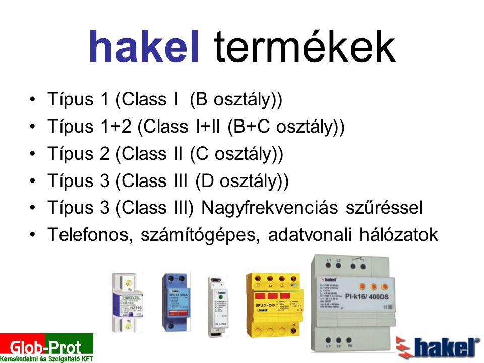 hakel termékek Típus 1 (Class I (B osztály)) Típus 1+2 (Class I+II (B+C osztály)) Típus 2 (Class II (C osztály)) Típus 3 (Class III (D osztály)) Típus