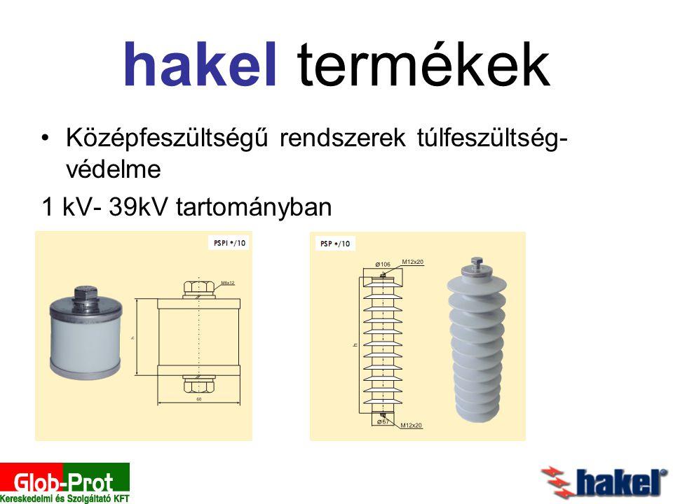 hakel termékek Középfeszültségű rendszerek túlfeszültség- védelme 1 kV- 39kV tartományban