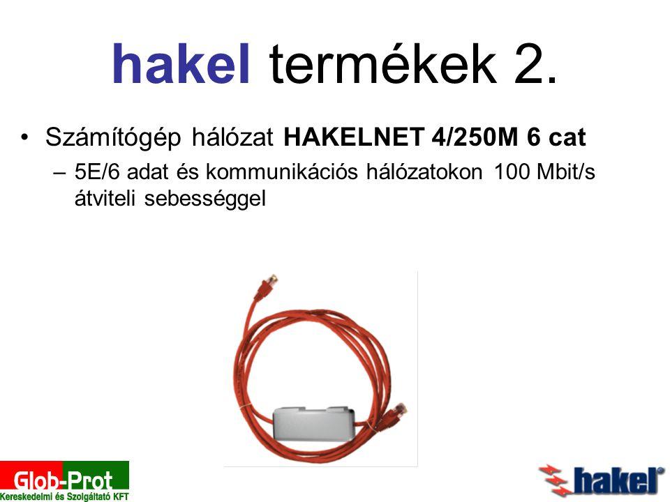 Számítógép hálózat HAKELNET 4/250M 6 cat –5E/6 adat és kommunikációs hálózatokon 100 Mbit/s átviteli sebességgel hakel termékek 2.