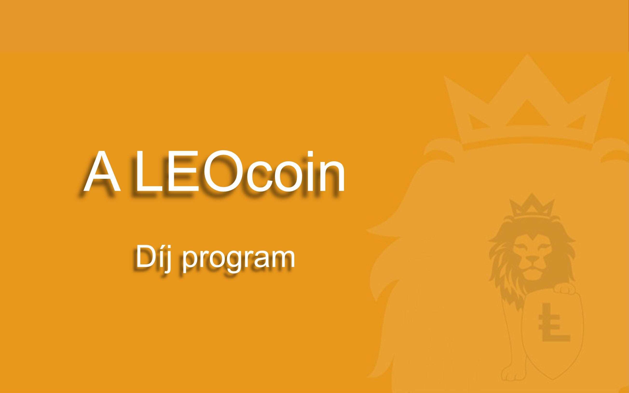 A LEOcoin Díj program
