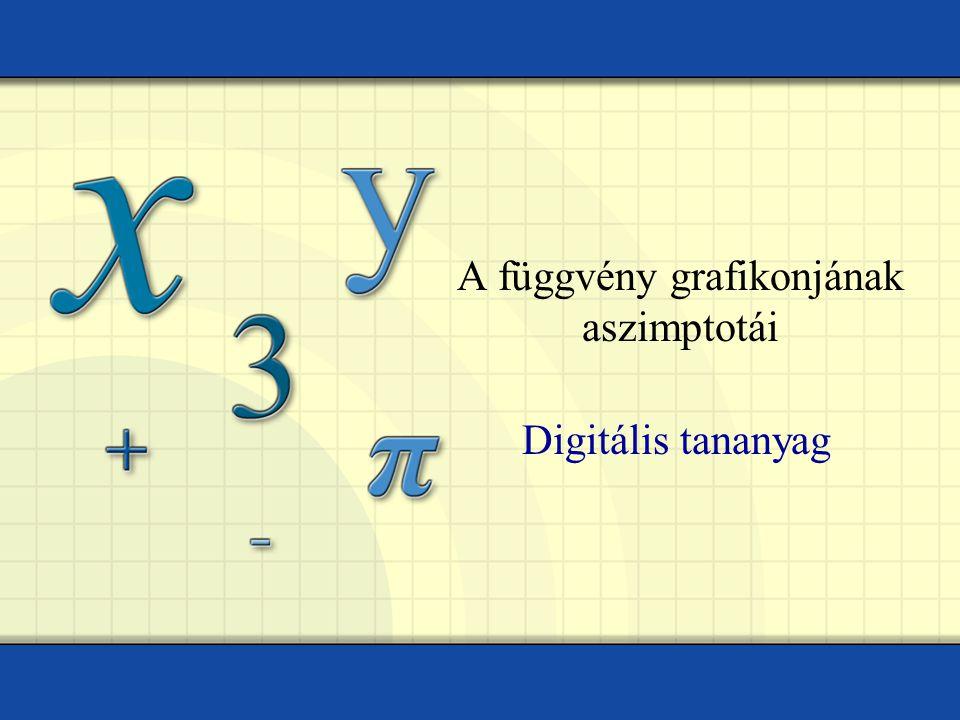 A függvény grafikonjának aszimptotái Digitális tananyag