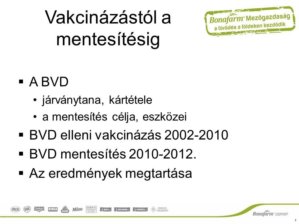 Bovine Viral Diarrhea  BVDV: Flaviviridae család, Pestivirus genus  1 genotípus, cytopathogen és non-cytopathogen törzsek  Világszerte előfordul (Mo-on szeropozitivitás: 51-90%)  Legfontosabb természetes rezervoár a perzisztens fertőzéssel (PI) világra jött egyed.