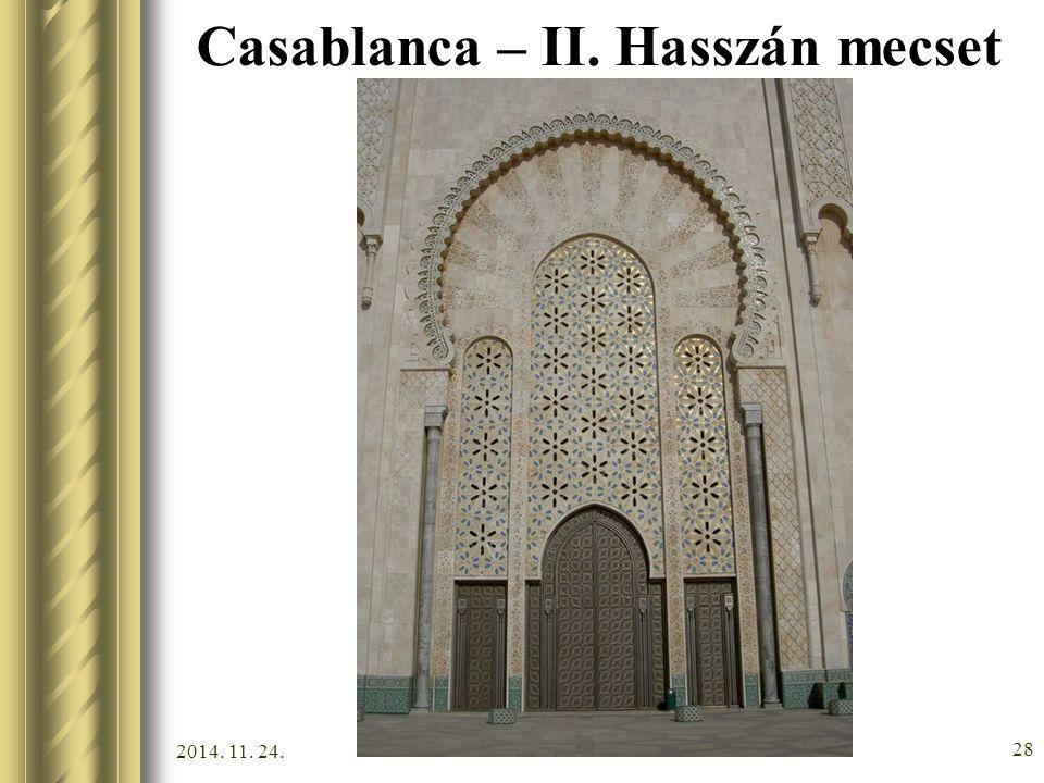 2014. 11. 24. 27 Casablanca – II. Hasszán mecset